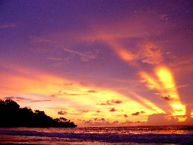 Beautiful Sunset and Sunrise Pangandaran
