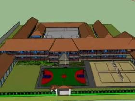 Keren, Anak SMPN 1 Pangandaran Animasikan Sekolahnya di Google Sketchup