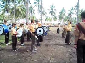 MTsN Pangandaran Buka LT III Ciamis dengan Sajian Drumband