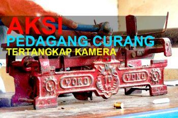 Aksi Pedagang Curang Tertangkap Kamera