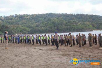 Apel Gabungan Sosialisasi Protokol Kesehatan di Objek Wisata Pantai Pangandaran