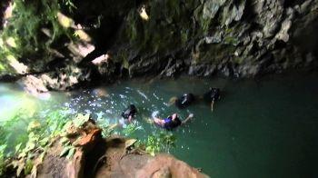 Citumang, Pangandaran. Part 2. Jump In Front of Cave