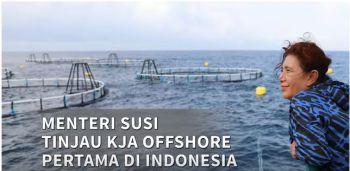 Menteri Susi Tinjau KJA OFFSHORE Pertama di Indonesia