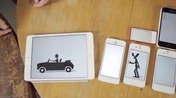 Keren, Animasi Dari Banyak Handphone Digabung Jadi Cerita
