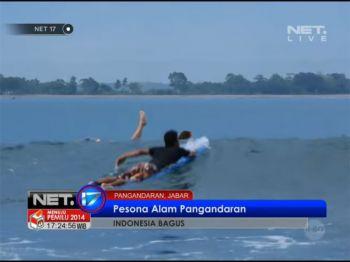 NET17 - Pesona ombak Pantai Batu Karas Pengandaran menjadi salah satu lokasi berselancar favorit