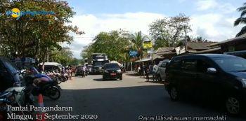 Pantai Pangandaran saat Libur Weekend Minggu, 13 September 2020